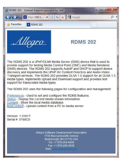 rdms web interface